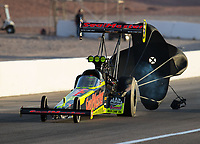 Oct 29, 2016; Las Vegas, NV, USA; NHRA top fuel driver J.R. Todd during qualifying for the Toyota Nationals at The Strip at Las Vegas Motor Speedway. Mandatory Credit: Mark J. Rebilas-USA TODAY Sports