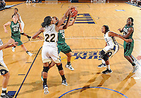 Florida International University guard Jerica Coley (22) plays against Stetson University in the first round of the NIT.  FIU won the game 75-47 on March 15, 2012 at Miami, Florida. .