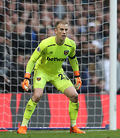 West Ham United's Joe Hart<br /> <br /> Photographer Rob Newell/CameraSport<br /> <br /> The Premier League - Chelsea v West Ham United - Sunday 8th April 2018 - Stamford Bridge - London<br /> <br /> World Copyright &copy; 2018 CameraSport. All rights reserved. 43 Linden Ave. Countesthorpe. Leicester. England. LE8 5PG - Tel: +44 (0) 116 277 4147 - admin@camerasport.com - www.camerasport.com