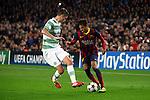 UEFA Champions League 2013/2014.<br /> FC Barcelona vs Celtic FC: 6-1 - Game: 6.<br /> Lustig vs Neymar.