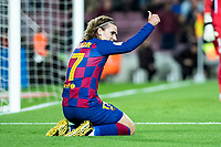 30th January 2020; Camp Nou, Barcelona, Catalonia, Spain; Copa Del Rey Football, Barcelona versus Leganes; Antoine Griezmann of FC Barcelona gives a thumbs up gesture for a great pass for his goal in the 4th minute for 1-0