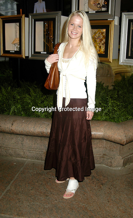 ..Crystal Hunt of Guiding Light ..at The Pamella Roland Spring 2006 FAshion Show on ..September 13, 2005 at the Tents at Olympus Fasion Week. ..Photo by Robin Platzer, Twin Images