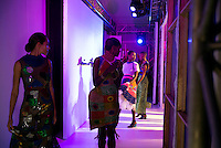 CAPE TOWN, SOUTH AFRICA JULY 30: Models walking for the designer Marianne Fassler leaves the catwalk after a show on July 30 2015 at the V&A Watershed in Cape Town, South Africa. Marianne Fassler is one of South Africa's most established designers and she showed at the yearly Mercedes Benz Cape Town Fashion Week where some of South Africa's finest designers showed their Spring/Summer 2016 collections, during the 3-day event. (Photo by Per-Anders Pettersson)