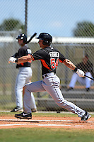 Miami Marlins Eric Fisher (54) during a minor league spring training game against the New York Mets on March 30, 2015 at the Roger Dean Complex in Jupiter, Florida.  (Mike Janes/Four Seam Images)