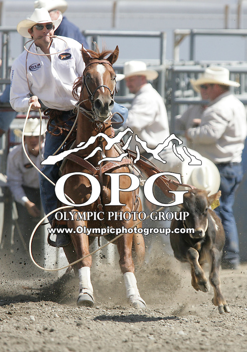 28 Aug 2010:  Jay Adams was not able to score a time in the slack Tie Down Ropong competition at the Kitsap County Stampede Wrangle Million Dollar PRCA Silver Rodeo Tour Bremerton, Washington.