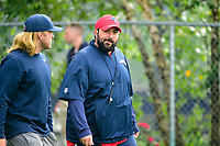 August 3, 2017: New England Patriots defensive coordinator Matt Patricia walks to practice at the New England Patriots training camp held at Gillette Stadium, in Foxborough, Massachusetts. Eric Canha/CSM