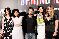 Selena Gomez, Vanessa Hudgens, Ashley Benson, director Harmony Korine and Rachel Korine attends 'Spring Breakers' photocall at Villamagna Hotel in Madrid. February 21, 2013. (ALTERPHOTOS/Caro Marin) /NortePhoto