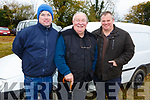 Mike Broderick, Dan O'Sullivan and John Breen all Castleisland at the Castleisland Coursing meeting on Monday.