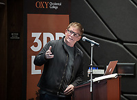 "Lorcan O'Herlihy, Founding Principal of Lorcan O'Herlihy Architects<br /> Occidental College's thought-provoking Third L.A. series presents, ""L.A. House and Home: New Paths in Housing Policy and Residential Architecture"" on Monday, December 2, 2019 in Choi Auditorium and moderated by Christopher Hawthorne, Oxy professor of practice and Chief Design Officer, Design Office, the Mayor's Office of Economic Development.<br /> This 3rd L.A. event brought together policymakers and leading architects as they discussed and summarized L.A.'s homelessness, housing affordability and single-family zoning, which are squarely at the top of the policy agenda across California. Furthermore, Los Angeles is engaged in a growing national conversation around the relationship between good design and good housing and the legacies of redlining and exclusionary zoning.<br /> (Photo by Marc Campos, Occidental College Photographer)"