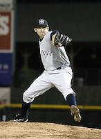June 17, 2004:  Pitcher Jason Anderson of the Columbus Clippers, International League (AAA) affiliate of the New York Yankees, during a game at Frontier Field in Rochester, NY.  Photo by:  Mike Janes/Four Seam Images