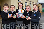 Pupils of Scoil Nuachabhail,Ballymacelligott who participated in the Junior Entreprenure Show Case Day on Friday at their school by showing off their Magnet for Fridges, Donal Daly,Evan Boyle,Roisín Reidy,Sarah O'Connor and Shanagh Griffin.