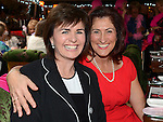 Eimear Lush and Madelene O'Halloran at the Pink Santa lunch in the Westcourt hotel. Photo:Colin Bell/pressphotos.ie