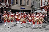 Nederland - Bergen op Zoom - 16 september 2018. Gilde Sint Jan Baptista uit Leenderstrijp.  Op zondag 16 september 2018 vindt in Bergen op Zoom de Brabant Stoet plaats. Dit is een grootst opgezet festival van de lopende cultuur. Deze vorm van cultuur is kenmerkend voor Brabant. In de Brabant Stoet zijn zo'n honderd vormen van lopende (en rijdende) cultuur te zien zoals gilden, fanfares, steltlopers, reuzen, carnaval, ommegangen en praalwagens. De Brabant Stoet wordt samengesteld met groepen uit zowel Noord-Brabant als Vlaams- en Waals-Brabant.   Foto Berlinda van Dam / Hollandse Hoogte