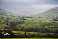 View looking towards Howgill Fells from Firbank, Cumbria.