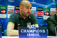 27.03.2012 MILANO, Itali - UEFA Champions League Press conference. the picture show Josep Guardiola coach of F.C. Barcelona...