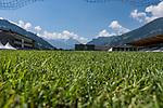 04.07.2019, Parkstadion, Zell am Ziller, AUT, TL Werder Bremen Zell am Ziller / Zillertal Tag 00<br /> <br /> im Bild<br /> Rasen auf Trainingsplatz, Feature, <br /> <br /> Foto © nordphoto / Ewert