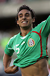 June 08 2008:  Francisco Arce (Santos Laguna) (15) of Mexico celebrates after scoring a goal.  During the third and final match of Mexico's 2008 USA Tour in preparation for qualification for FIFA's 2010 World Cup, the national soccer team of Mexico defeated Peru 4-0 at Soldier Field, in Chicago, IL.
