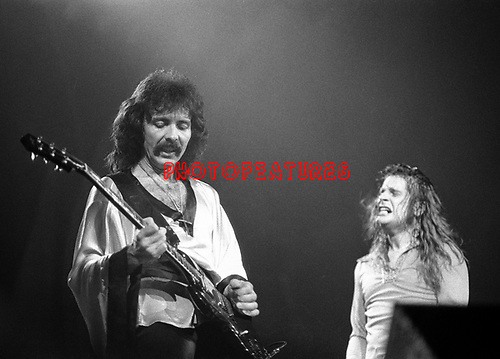 Black Sabbath 1974 Tony Iommi and Ozzy Osbourne.© Chris Walter.