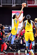 Washington, DC - June 15, 2018: Chicago Sky forward Gabby Williams (15) goes up for a basket during game between the Washington Mystics and Chicago Sky at the Capital One Arena in Washington, DC. (Photo by Phil Peters/Media Images International)