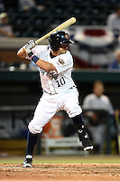 Lakeland Flying Tigers second baseman Brandon Loy (10) during a game against the Tampa Yankees on April 3, 2014 at Joker Marchant Stadium in Lakeland, Florida.  Tampa defeated Lakeland 4-0.  (Mike Janes/Four Seam Images)