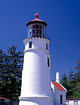 Umpqua River Lighthouse (1894) at Umpqua Lighthouse State Park near Reedsport, Douglas County, OR