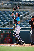 Miami Marlins catcher Gunner Pollman (59) during an Instructional League game against the Washington Nationals on September 25, 2019 at Roger Dean Chevrolet Stadium in Jupiter, Florida.  (Mike Janes/Four Seam Images)