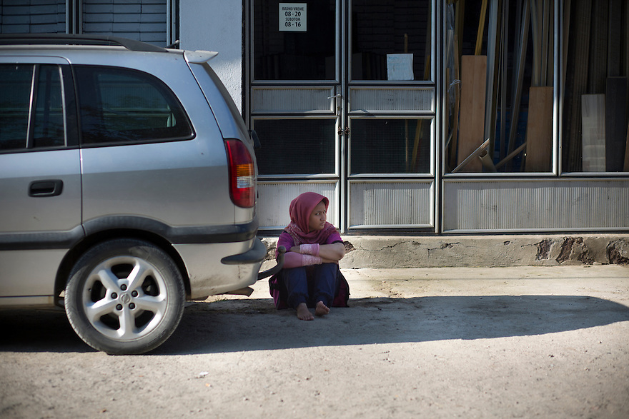 Migrants arriving and waiting (sometimes days) to be registered in Presevo, Serbia, after crossing the border on foot from Macedonia. About 1000 people a day are crossing through Macedonia by train and then arriving in Serbia, en route to EU countries like Germany and Sweden, where they hope to receive asylum. PHOTO BY JODI HILTON