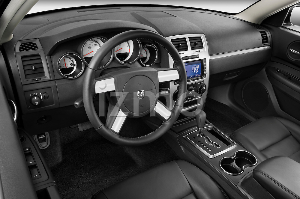 High angle dashboard view of a 2008 Dodge Charger Dub