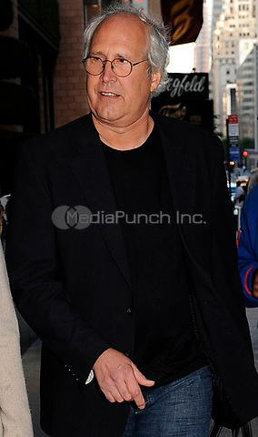 NEW YORK - OCTOBER 07: Actor Chevy Chase and his wife Jayni Luke arrive at their midtown hotel. on October 7, 2009 in New York City.<br />