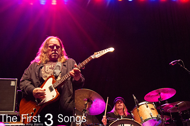 Warren Haynes and Matt Abts of Government Mule perform during the The Beale Street Music Festival in Memphis, Tennessee.