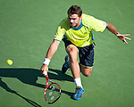Stanislas Wawrinka of Switzerland at the Western & Southern Open in Mason, OH on August 17, 2012.