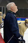 Jeff Jackson (Notre Dame Head Coach) - The 2008 Frozen Four participants practiced on Wednesday, April 9, 2008, at the Pepsi Center in Denver, Colorado.