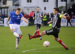 Lewis MacLeod scores the fifth goal of the match for Rangers