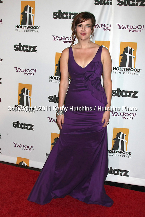 LOS ANGELES - OCT 24:  Sara Rue arriving at the 15th Annual Hollywood Film Awards Gala at Beverly Hilton Hotel on October 24, 2011 in Beverly Hllls, CA