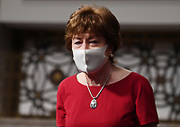 United States Senator Susan Collins (Republican of Maine), of the Senate Health, Education, Labor and Pensions (HELP) Committee, wears a face mask during a hearing on Capitol Hill in Washington DC on Tuesday, June 30, 2020.  Dr. Anthony Fauci, director of the National Institute for Allergy and Infectious Diseases, and other government health officials updated the Senate on how to safely get back to school and the workplace during the COVID-19 pandemic. <br /> Credit: Kevin Dietsch / Pool via CNP /MediaPunch