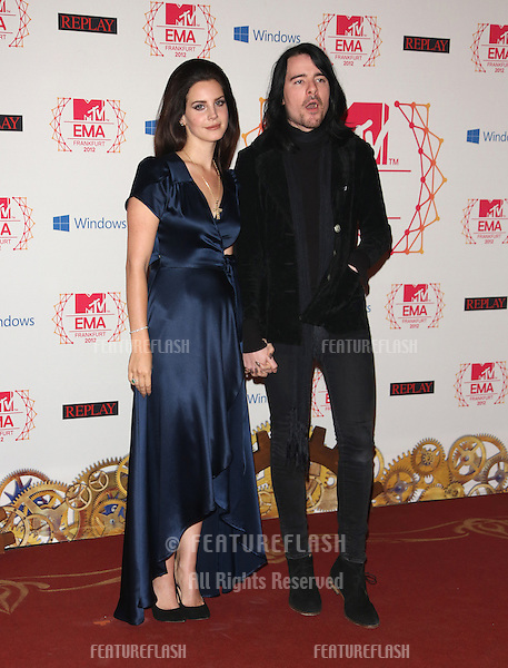 Lana Del Rey with her boyfriend Barrie-James O'Neill arriving for the The MTV EMA's 2012 held at Festhalle, Frankfurt, Germany. 11/11/2012 Picture by: Henry Harris / Featureflash