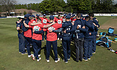 Issued by Cricket Scotland - Scotland V Afghanistan 2nd One Day International - Grange CC - Shane Burger (centre left, facing camera) completes his pre-match talk - picture by Donald MacLeod - 10.05.19 - 07702 319 738 - clanmacleod@btinternet.com - www.donald-macleod.com