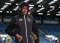 Blackpool's Armand Gnanduillet arriving at the stadium <br /> <br /> Photographer Andrew Kearns/CameraSport<br /> <br /> The EFL Sky Bet League One - Portsmouth v Blackpool - Saturday 12th January 2019 - Fratton Park - Portsmouth<br /> <br /> World Copyright © 2019 CameraSport. All rights reserved. 43 Linden Ave. Countesthorpe. Leicester. England. LE8 5PG - Tel: +44 (0) 116 277 4147 - admin@camerasport.com - www.camerasport.com