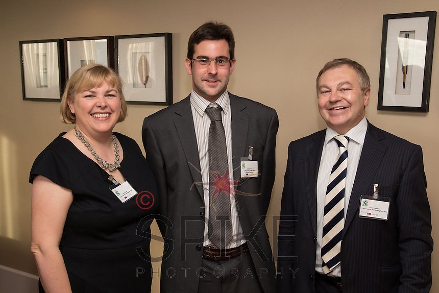 Jane Hunt, Conservative PPC for Nottingham South is pictured with Andrew Rule, Nottingham Conservatives Deputy Chairman (centre) and Garry Hickton, Conservative PPC Nottingham East