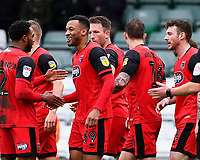 Wes Thomas of Grimsby Town celebrates scoring the second goal  during Yeovil Town vs Grimsby Town, Sky Bet EFL League 2 Football at Huish Park on 9th February 2019
