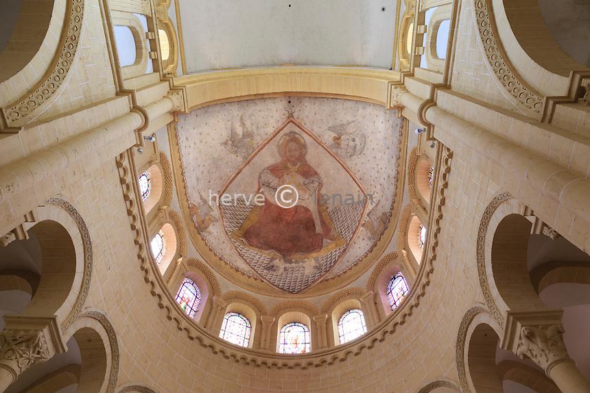 France, Saône-et-Loire (71), Paray-le-Monial, basilique du Sacré-Coeur, peinture sur la voûte du chœur // France, Saone et Loire, Paray le Monial, Sacre Coeur basilica
