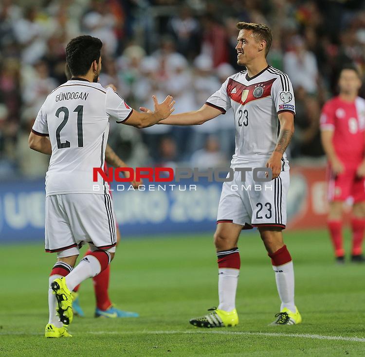 EM 2015 Qualifikationsspiel, Gibraltar vs. Deutschland<br /> Ilkay G&uuml;ndogan (Deutschland) freut sich &uuml;ber sein Tor zum 3:0<br /> <br /> <br /> Foto &copy; nordphoto /  Bratic