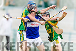 Sean Dowling Kilmoyley in Action against John Egan Saint Brendans in the Senior County Hurling Semi Final at Austin Stack Park on Sunday.