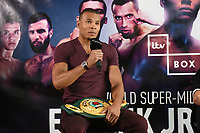 Chris Eubank speaks during a Press Conference at the Sky Bar, Hilton Hotel on 13th July 2017