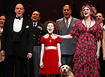 Anthony Warlow, Lilla Crawford, Merwin Foard, & Company during the Broadway Opening Night Performance Curtain Call for 'Annie' at the Palace Theatre in New York City on 11/08/2012