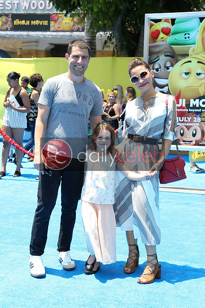 "Lilly Greenfield, Max Greenfield, Tess Sanchez<br /> at the premiere of ""The Emoji Movie,"" Village Theater, Westwood, CA 07-23-17<br /> David Edwards/DailyCeleb.com 818-249-4998"