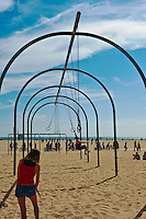"Rings, Beach, Exercise, Santa Monica, CA, Original, Muscle, Beach,  Known as ""The Birthplace of the Physical Fitness Boom of the Twentieth Century"""