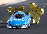 Jul 22, 2017; Morrison, CO, USA; NHRA funny car driver John Force during qualifying for the Mile High Nationals at Bandimere Speedway. Mandatory Credit: Mark J. Rebilas-USA TODAY Sports