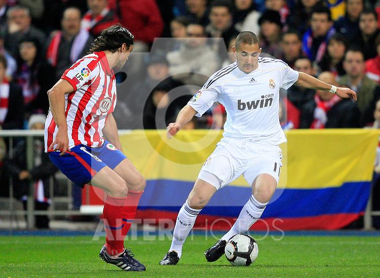 Real Madrid's Karim Benzema during La Liga match. November 7 2009. .(ALTERPHOTOS/Acero).