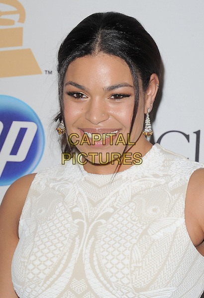JORDIN SPARKS .attends the Annual Clive Davis & The Recording Company Pre-Grammy Gala - Salute To Icons held At The Beverly Hilton Hotel, Beverly Hills, California, USA, 12th February 2011..portrait headshot smiling white patterned print sleeveless.CAP/RKE/DVS.©DVS/RockinExposures/Capital Pictures.